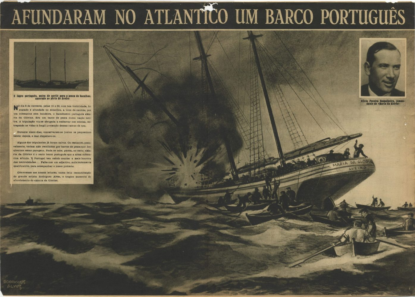 The sinking of Maria do Gloria